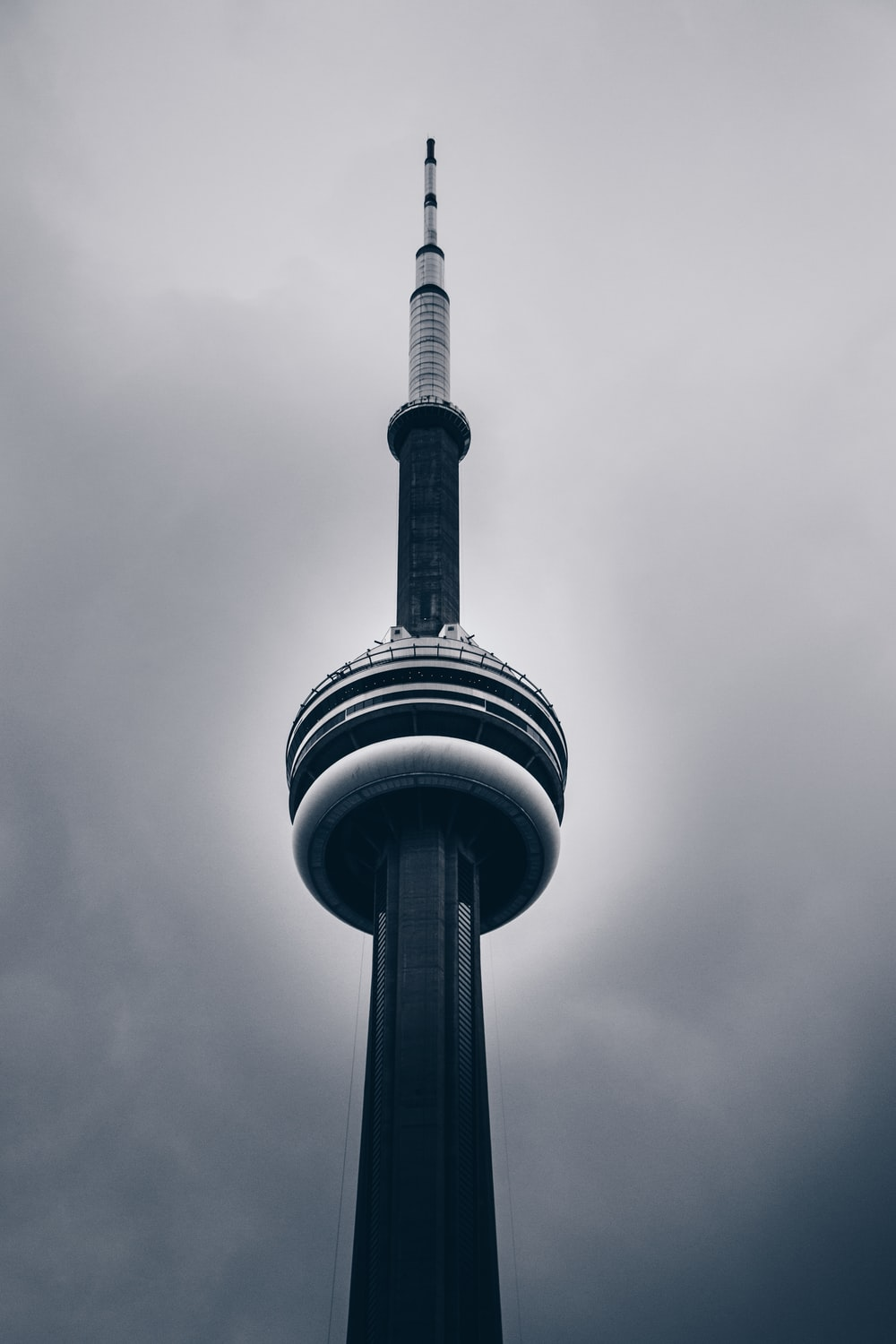 low-angle photo of CN tower