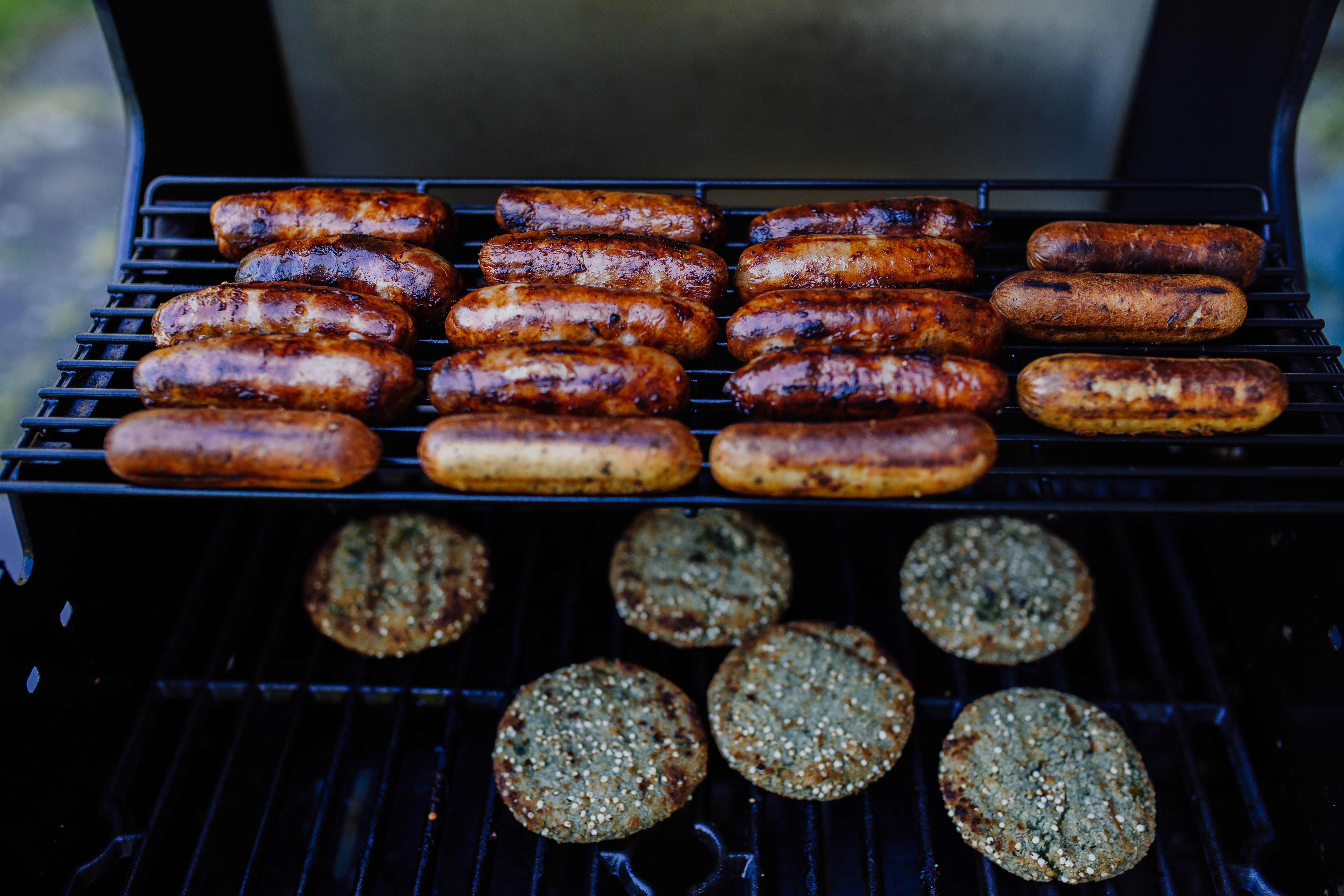 grilled patty and sausage