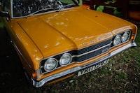 orange Ford car