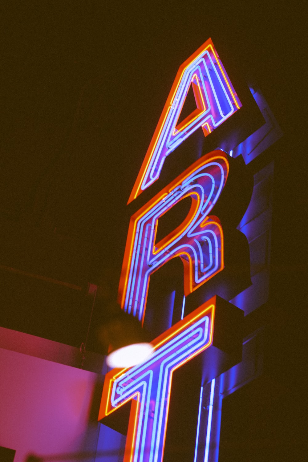 close-up photography of neon light signage