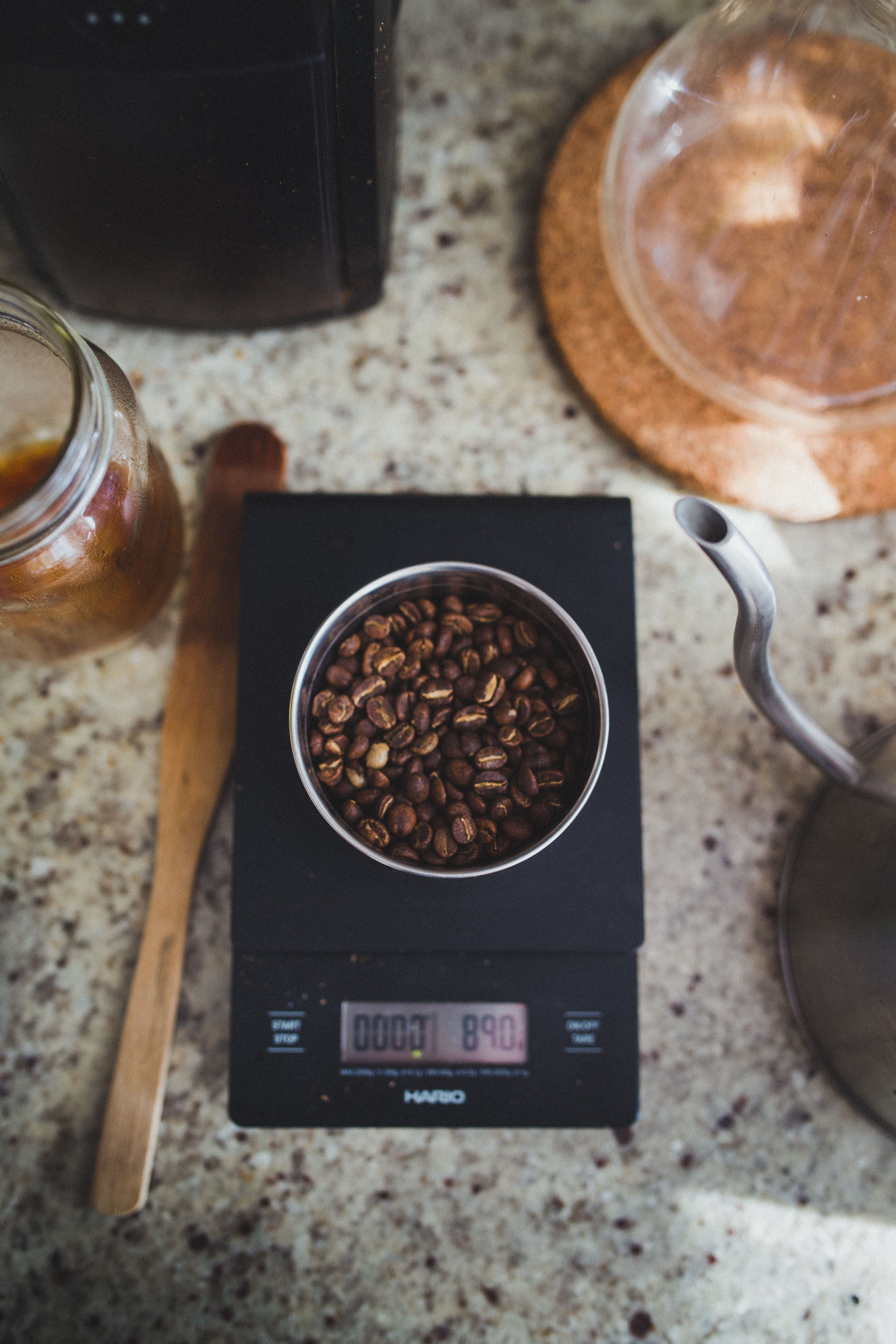 coffee beans on bowl