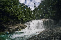 timelapse photography of waterfalls at daytime