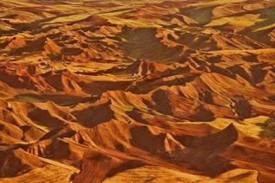 aerial photo desert