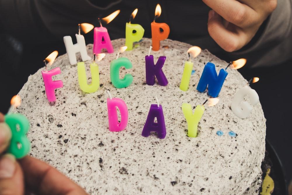 Happy Fucking day cake