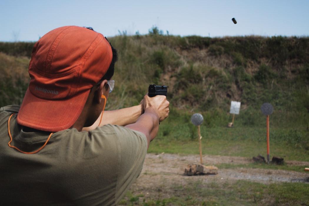 Firing at the shooting range