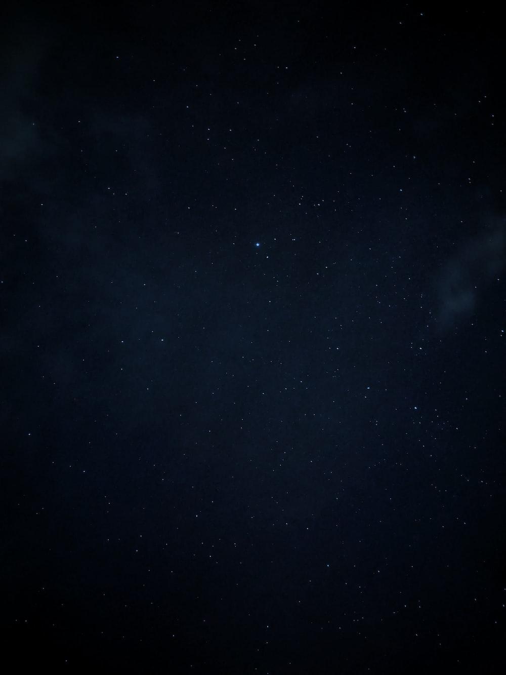night sky with star