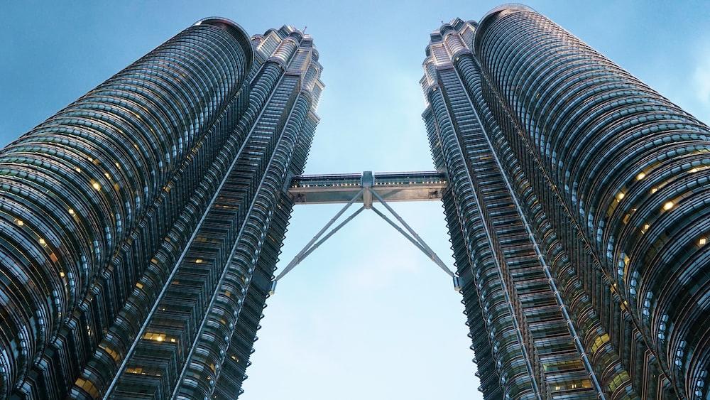 low angle photography of Petronas Twin Tower Kuala Lumpur, Malaysia