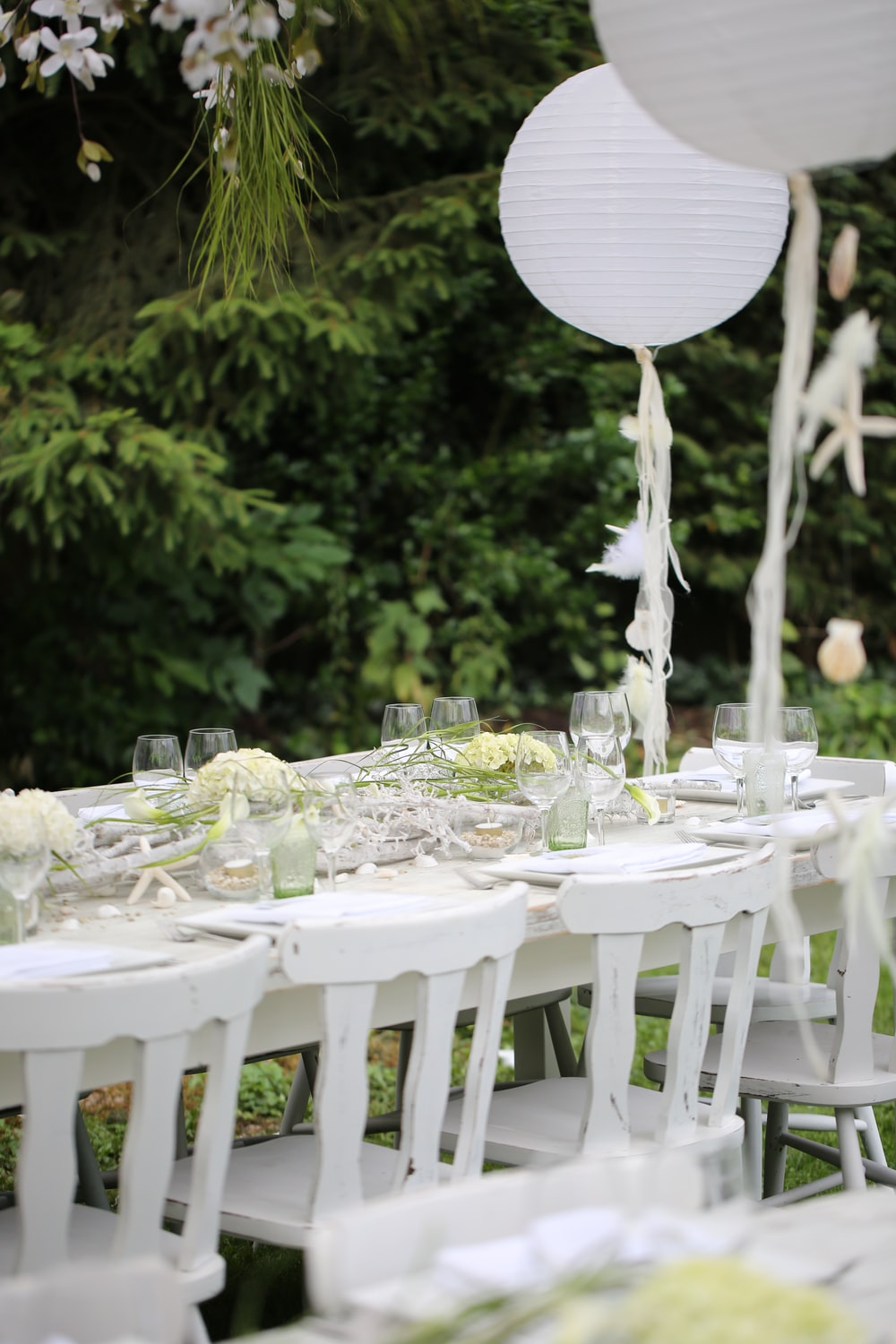 fine dining setting outdoor
