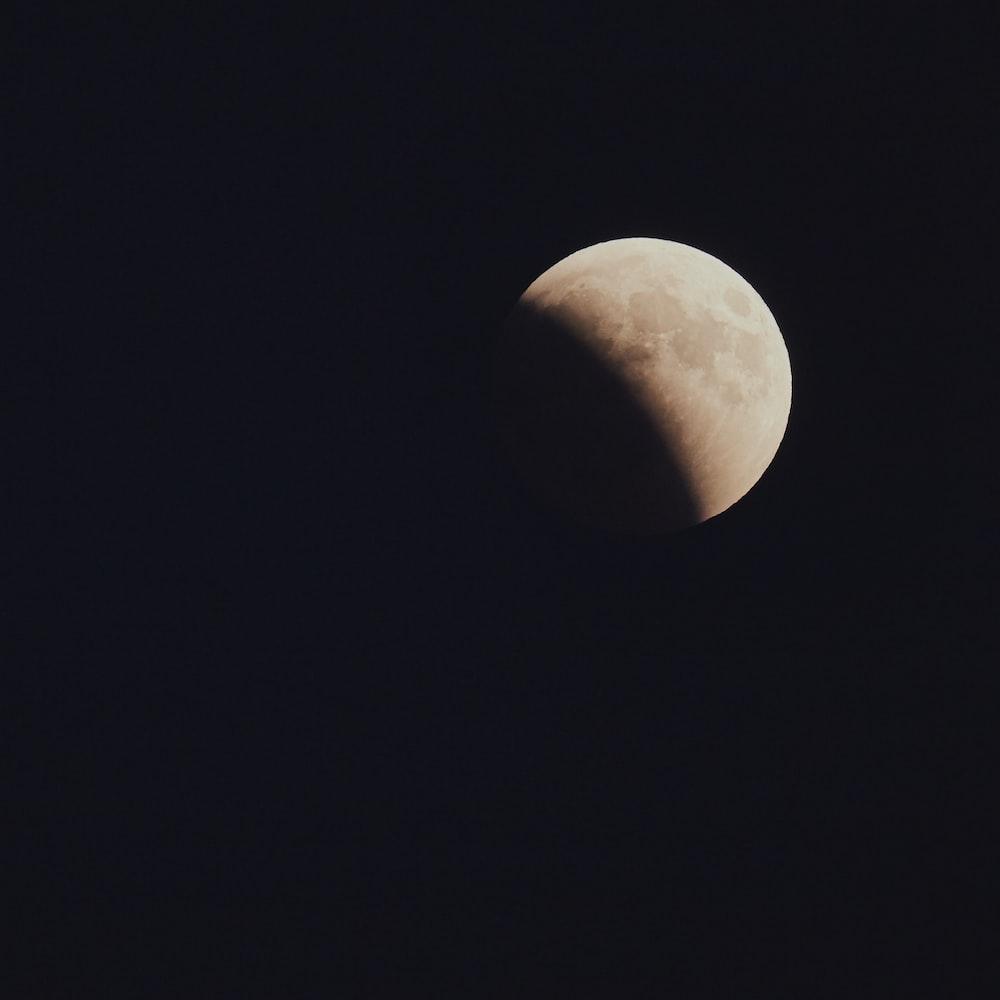 half moon at night