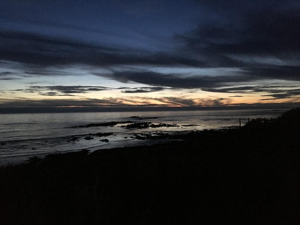 beachfront during dawn