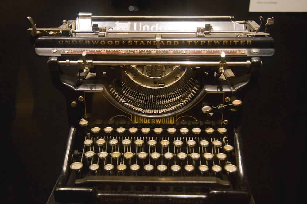 black Underwood manual typewriter