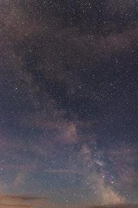 stars on clear sky