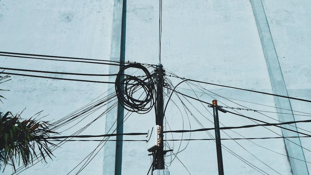 black utility post