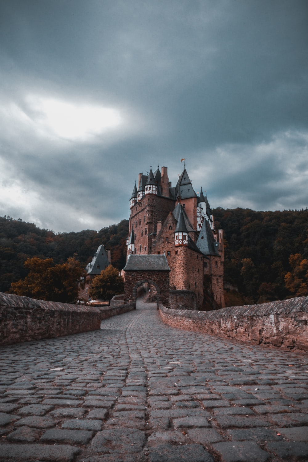 architectural photography of brown and gray castle
