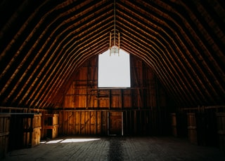 brown wooden barn