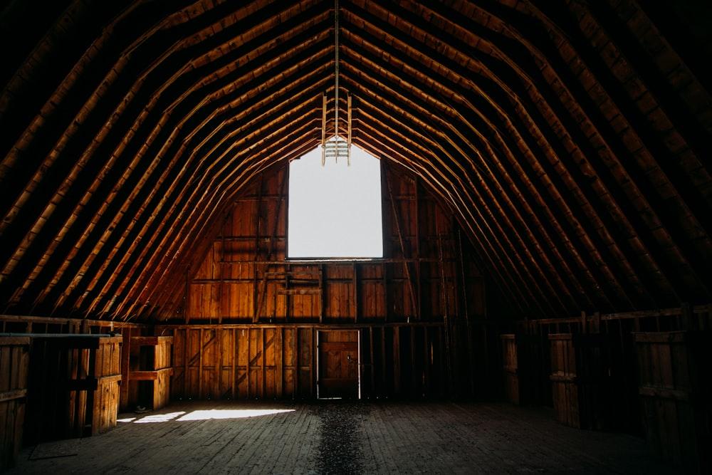 brown wooden barn