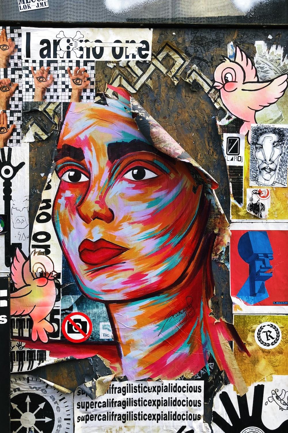 woman's portrait wall art