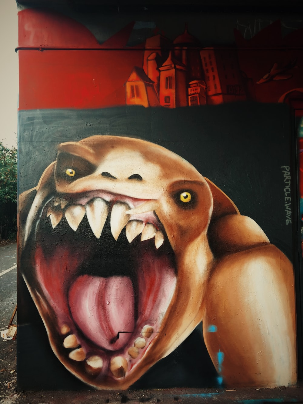 brown monster painting