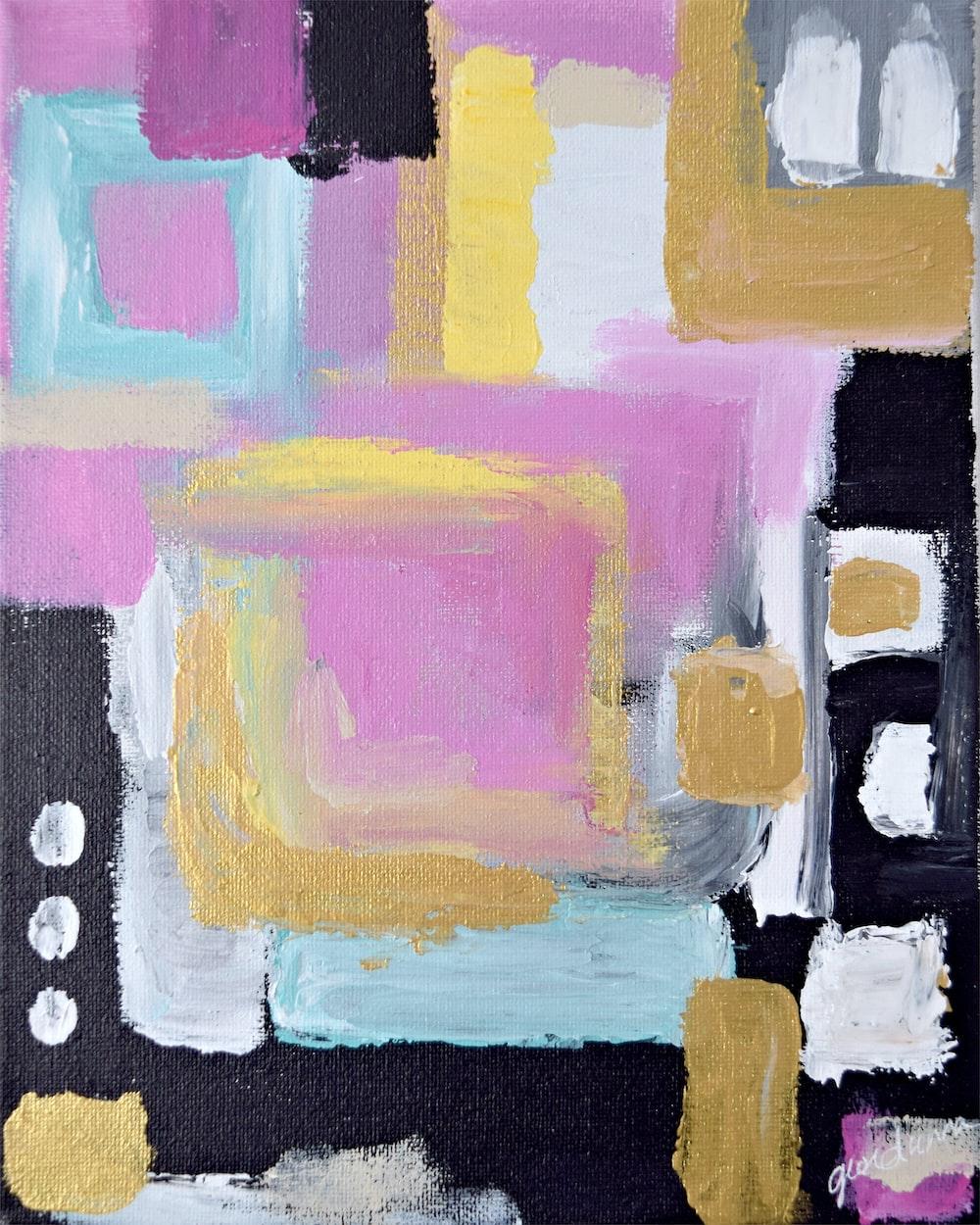 closeup photo multicolored painting