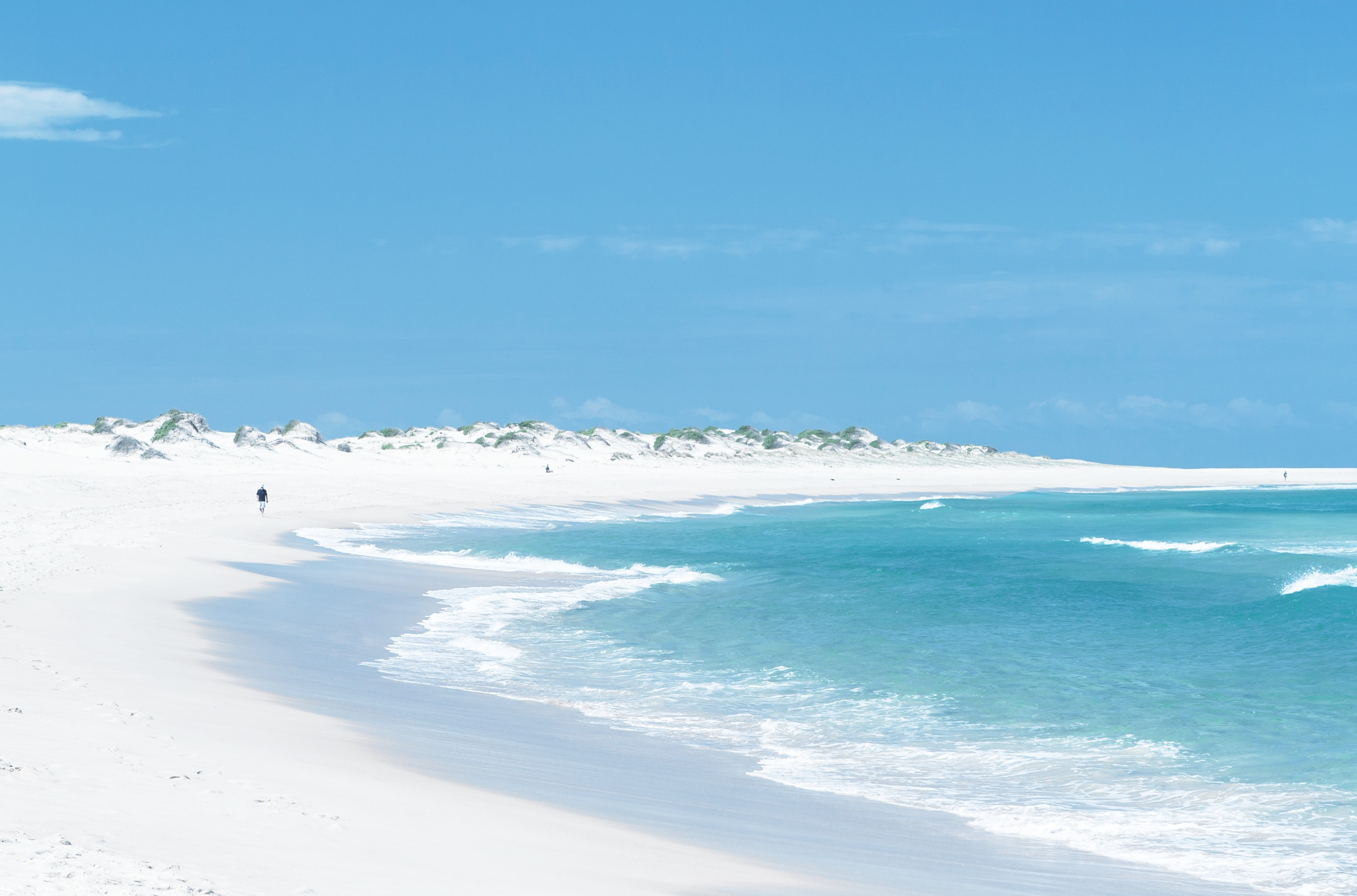 landscape photograph of white sand beach