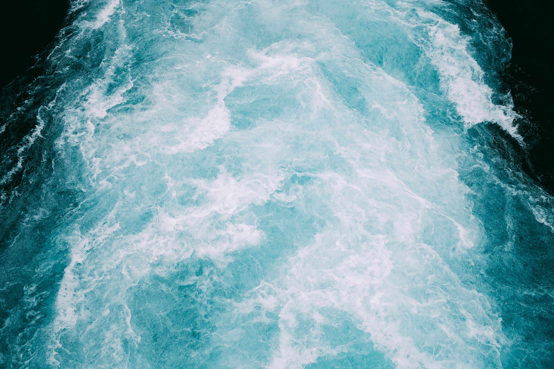 closeup photo of crashing seashore