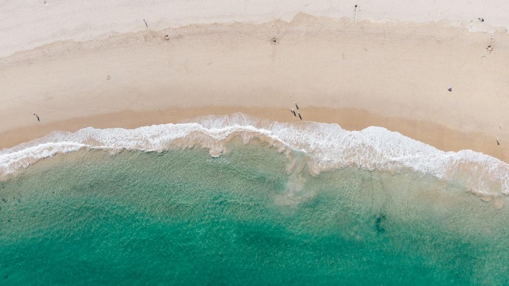 bird's eye view of tidal waves