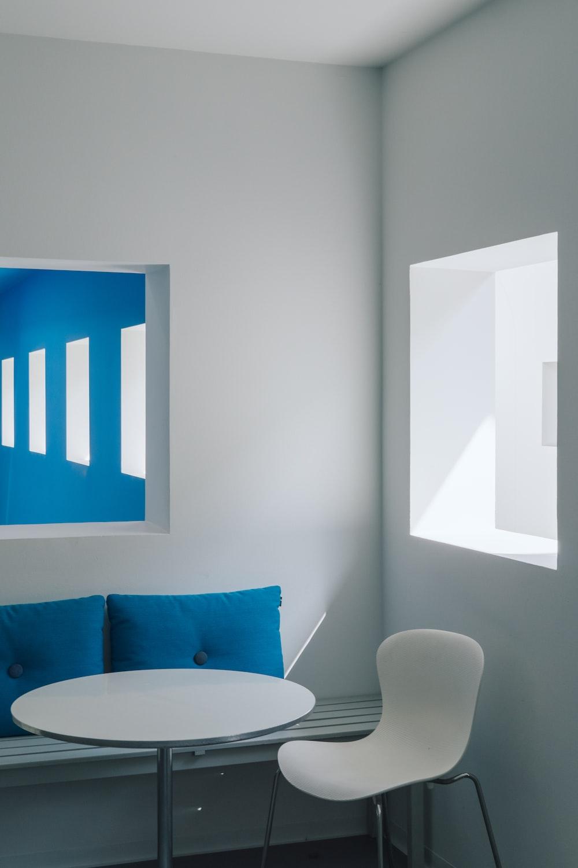 white chair near window