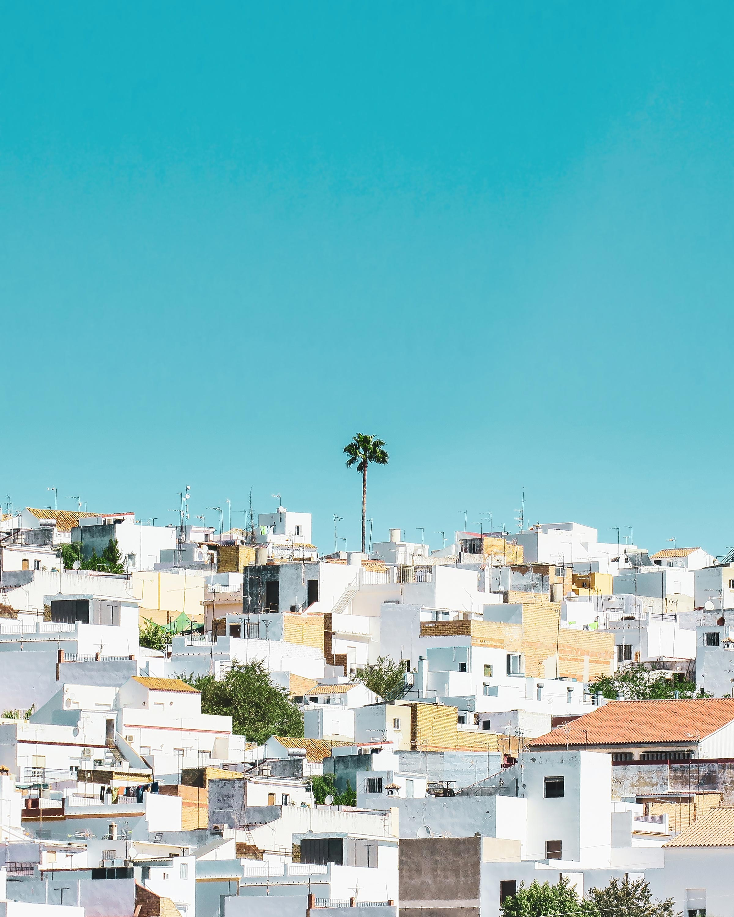 white and brown concrete houses under blue sky during daytime