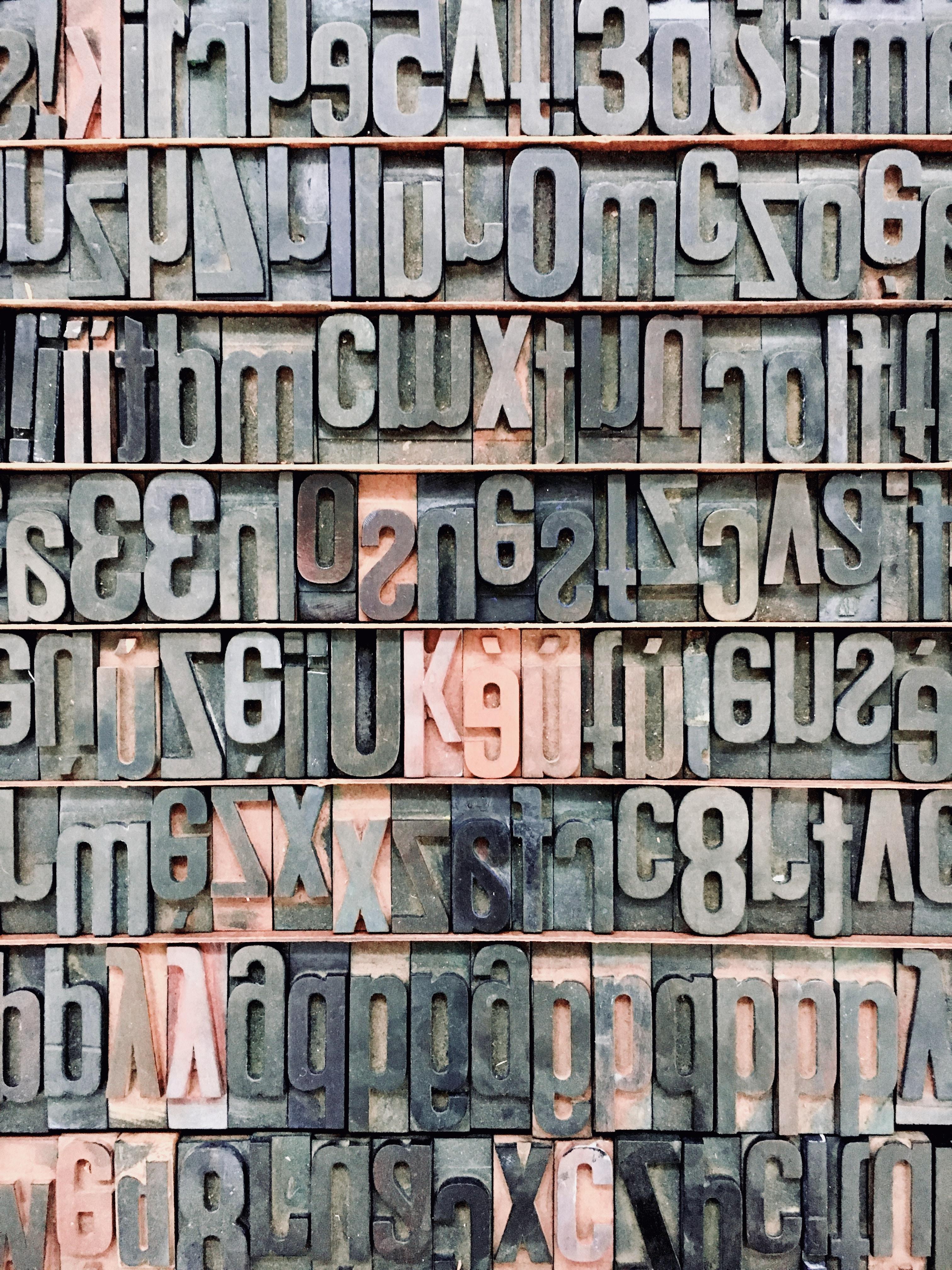 black alphabetical wall decor
