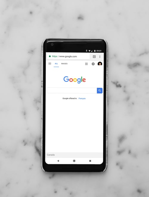google website on phone