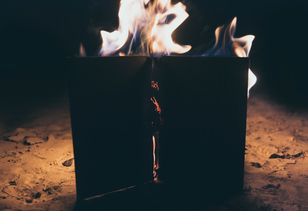 time lapse photography of bonfire