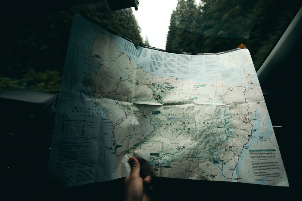 person holding map