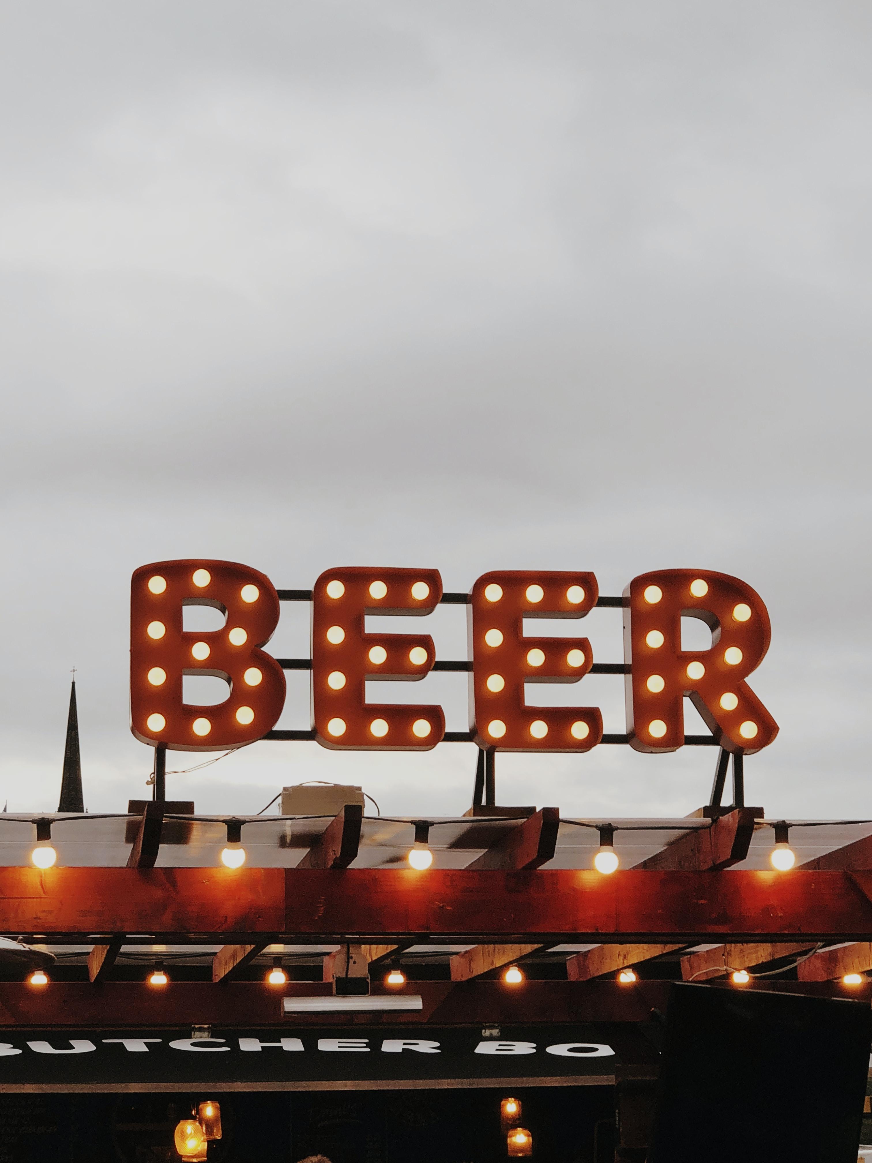 Beer LED signboard