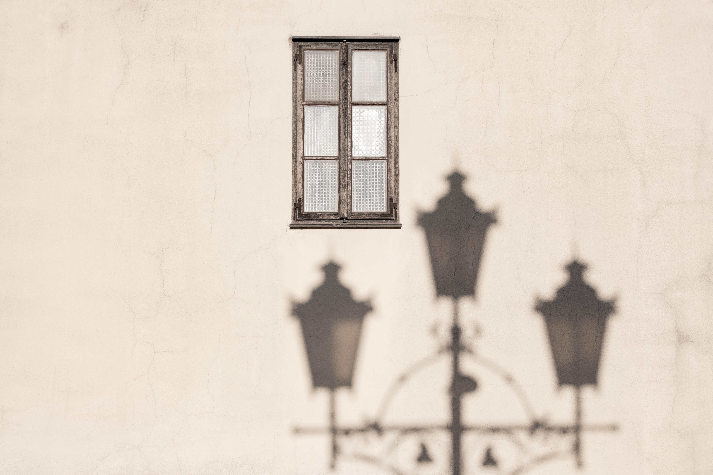 glass window on wall