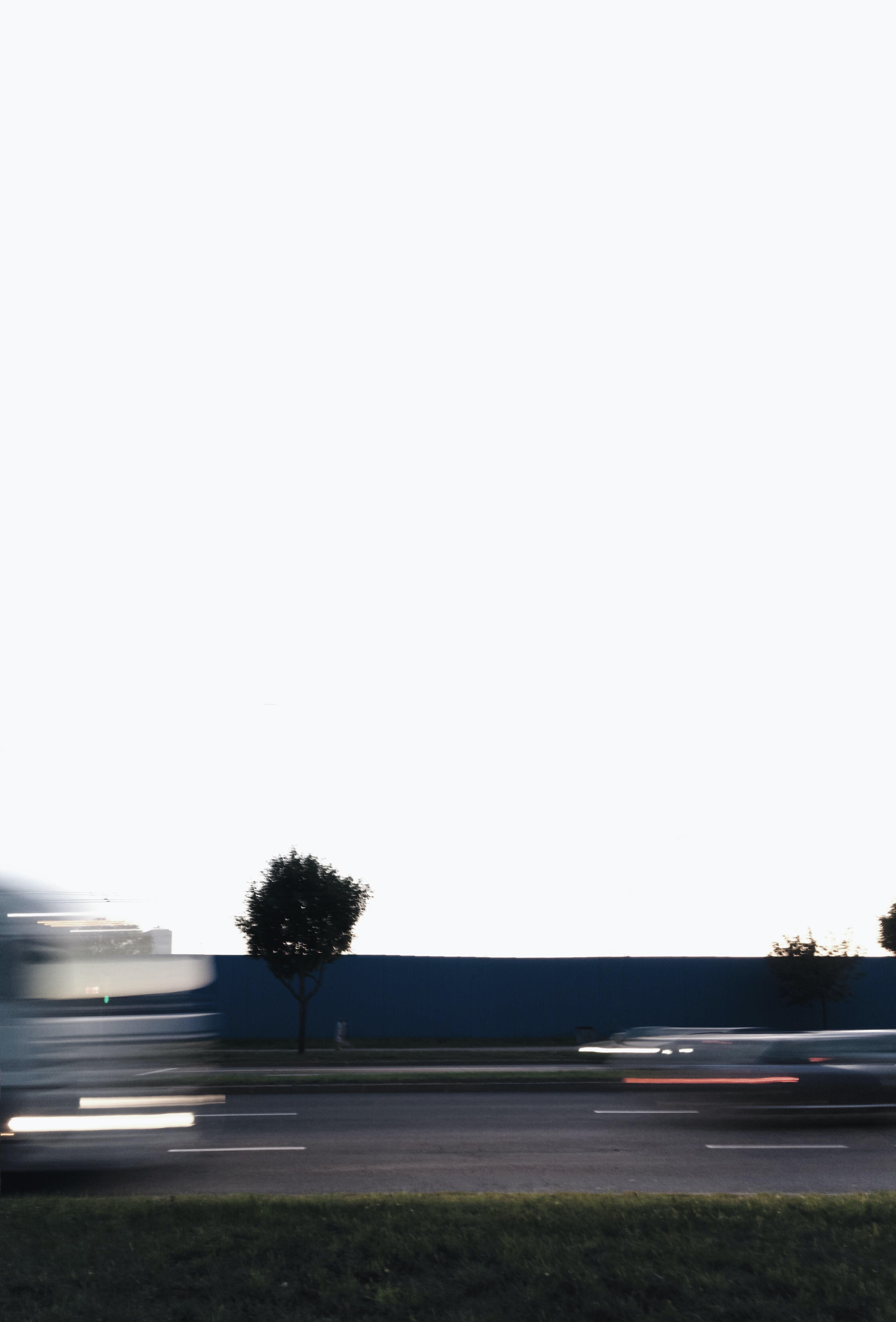 time-lapse photo of vehicle