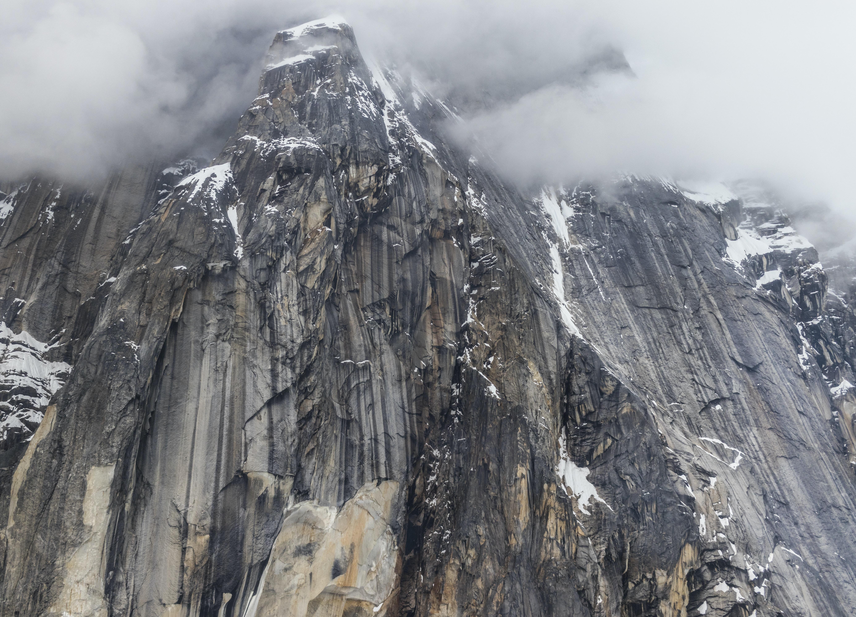 gray rock mountain at daytime