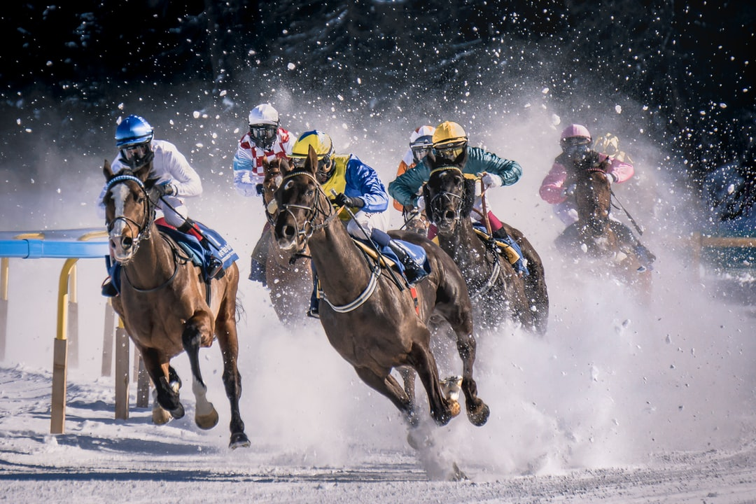 Horse race in Sankt Moritz called White Turf. It take place every year on the iced lake of Sankt Moritz.