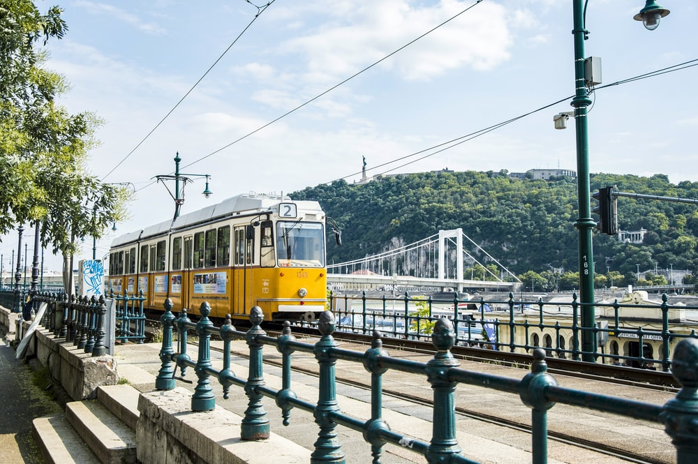 yellow cable train