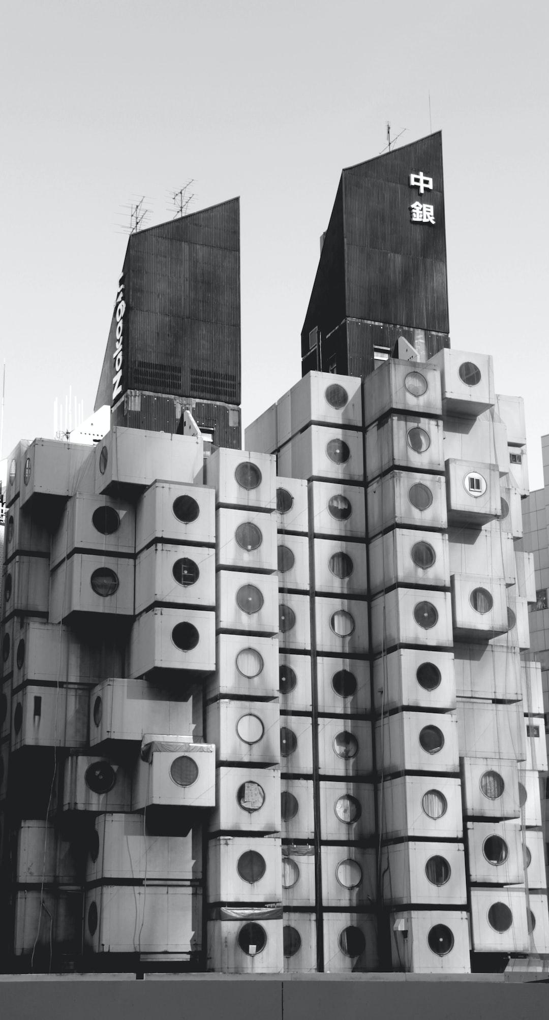 A modular Japanese structure. Inspiring to gaze upon