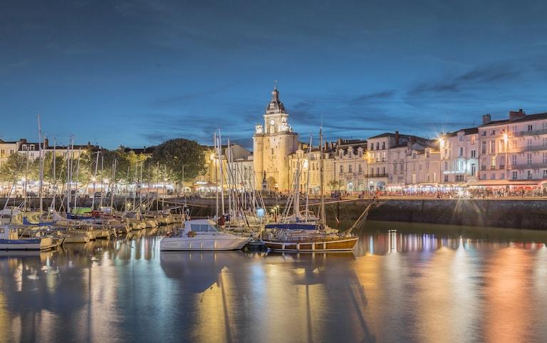 Vieux Port de La Rochelle de nuit