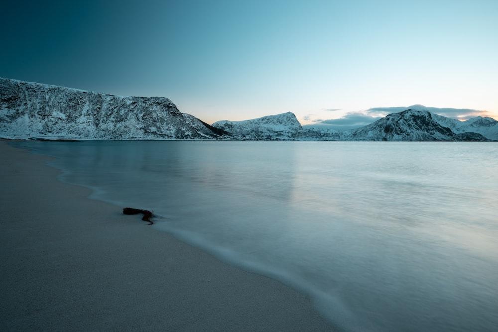 seashore near mountains