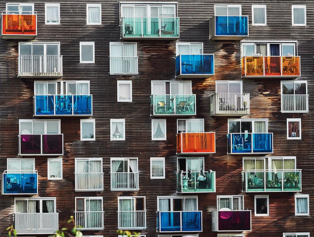 multicolored window wallpaper