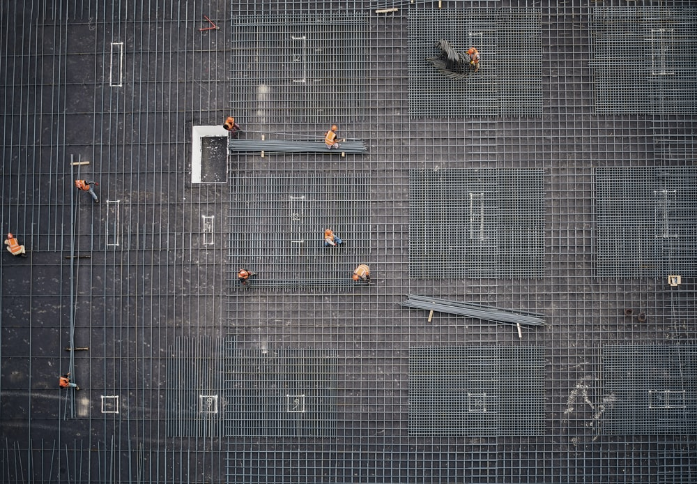aerial photo of people in park at daytime