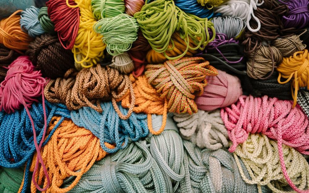 assorted-color shoe lace lot