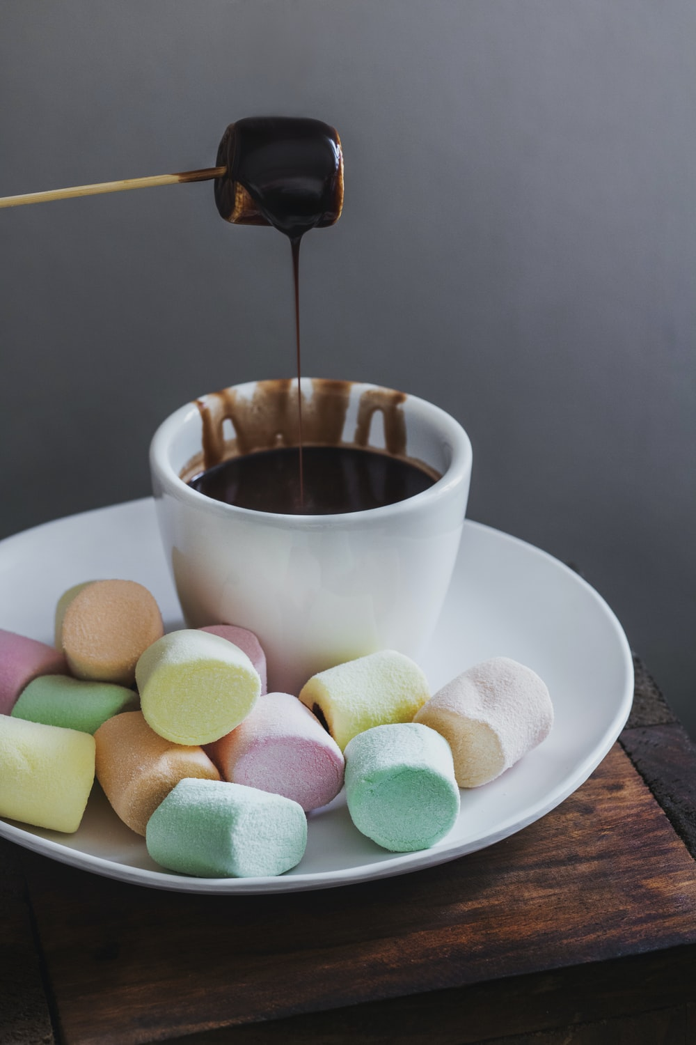 marshmallow with chocolate