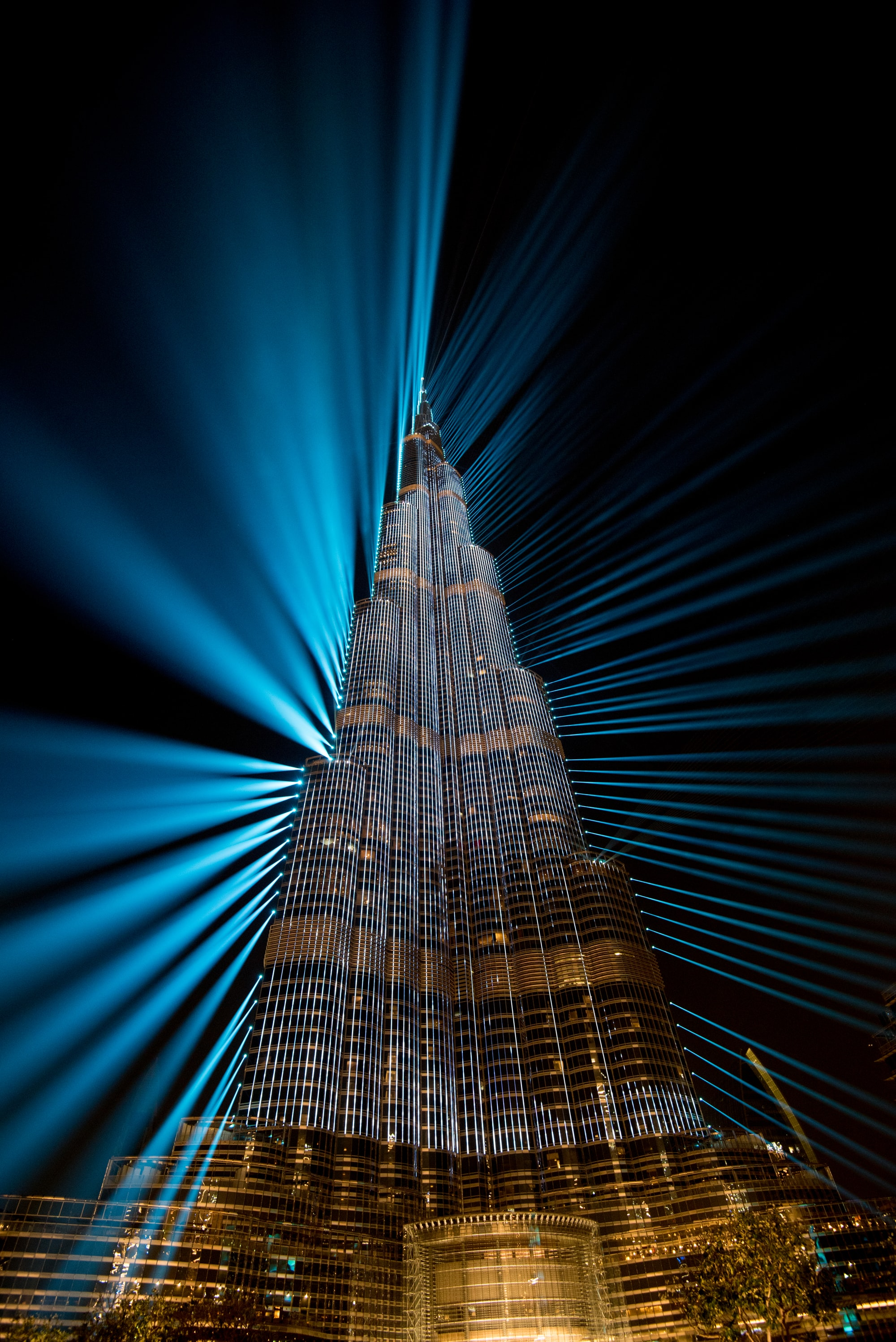 The Burj Khalifa is the tallest tower in the world.   What an impressive building!