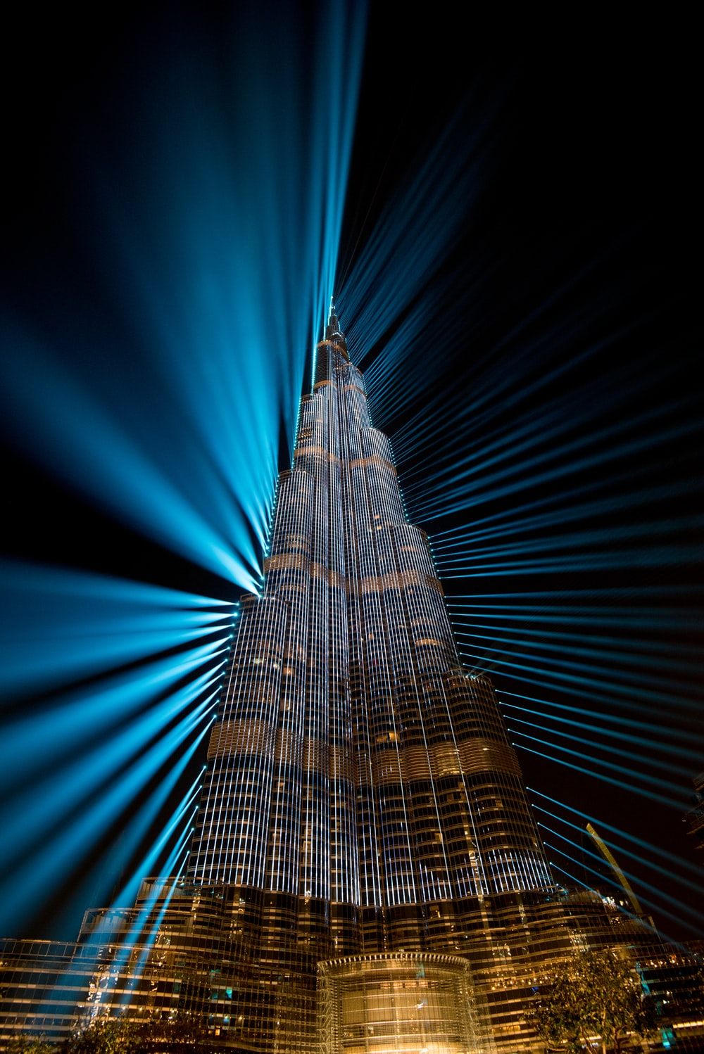 Light and sound show at Burj Khalifa
