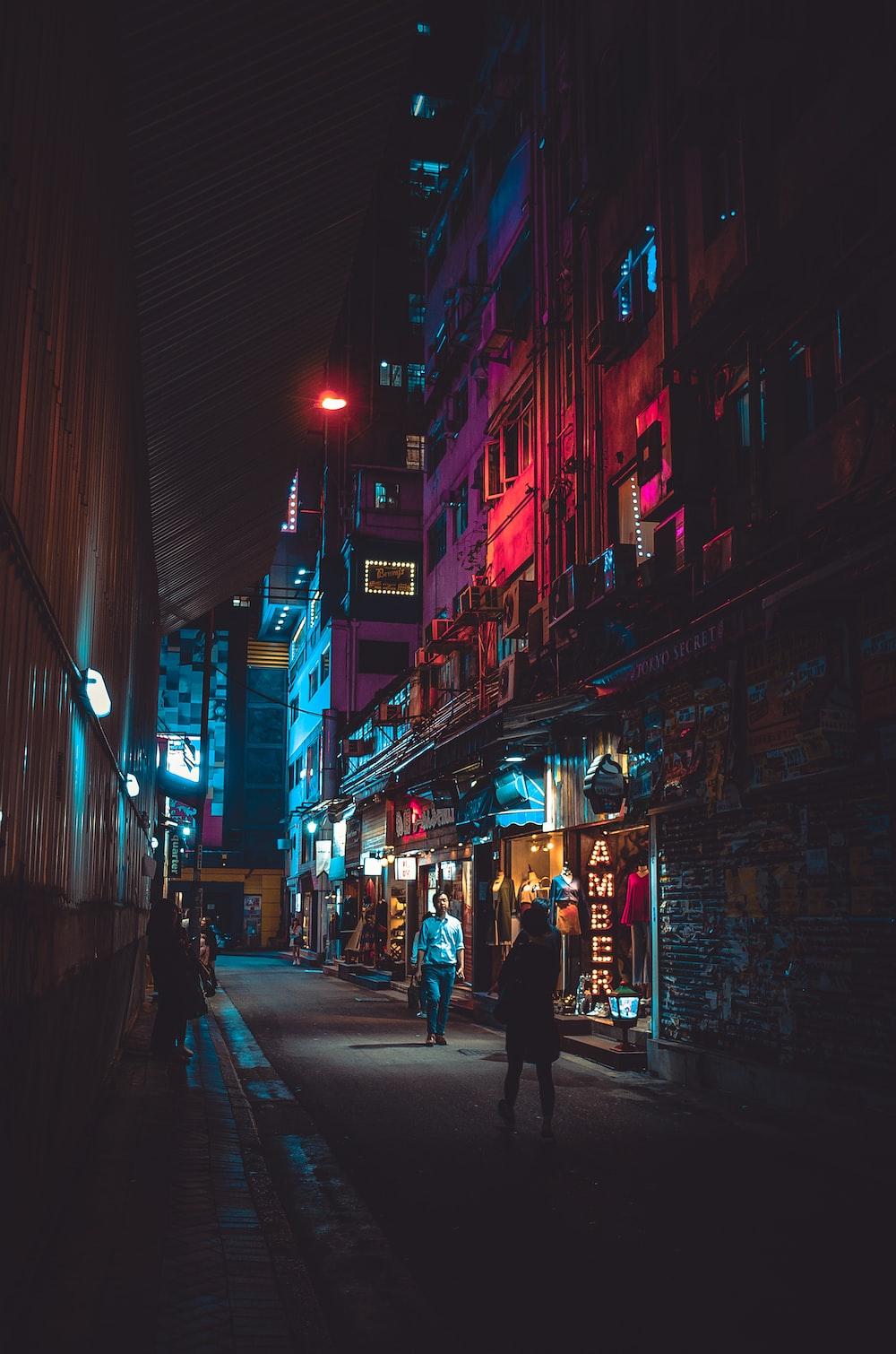 man walking on street