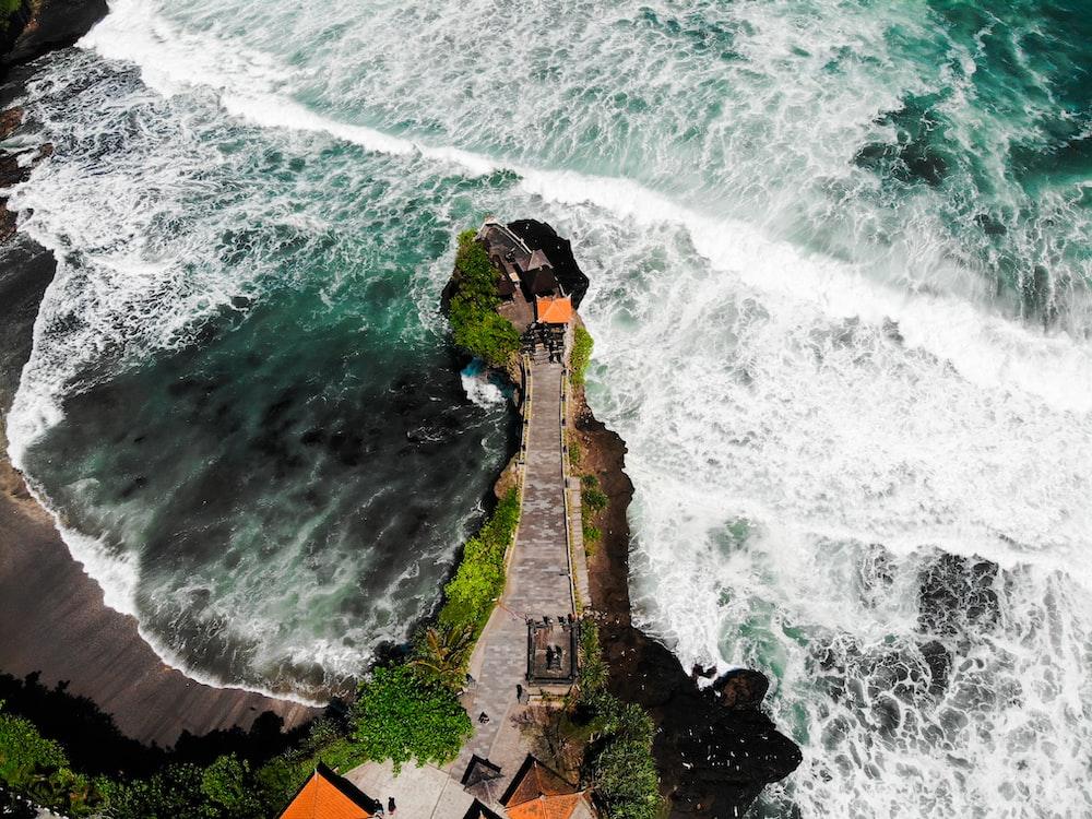 island beside body of water
