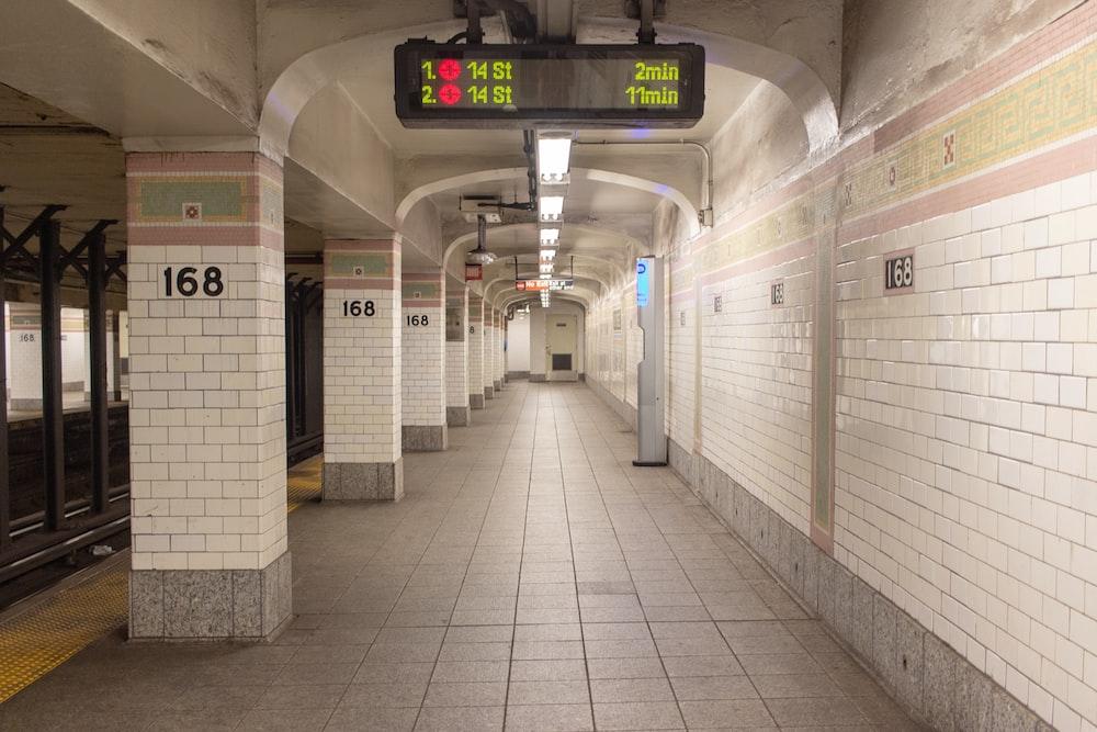 white concrete train station